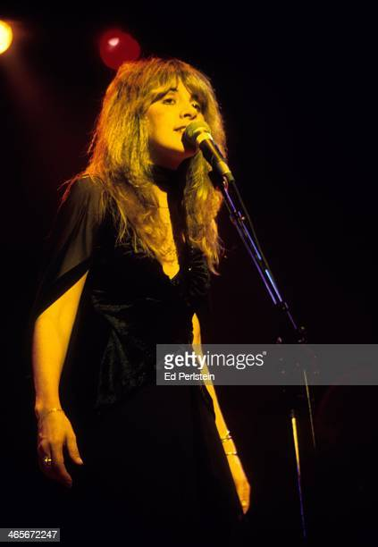 Stevie Nicks performs with Fleetwood Mac at the Berkeley Community Theater in February 1977 in Berkeley, California.
