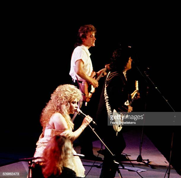 Stevie Nicks Rick Vito and Billy Burnette of Fleetwood Mac perform on stage at Wembley Arena London United Kingdom 18th June 1988