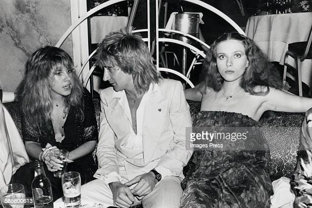 Stevie Nicks Rod Stewart and Bebe Buell at Regine's circa 1977 in New York City