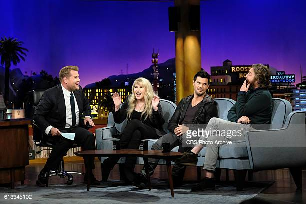 Stevie Nicks Taylor Lautner and Zach Galifianakis chat with James Corden during The Late Late Show with James Corden Thursday October 6th 2016 On The...