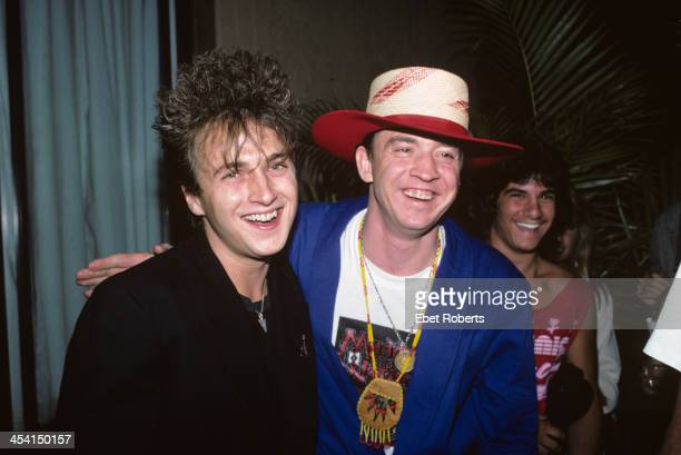 Stevie Ray Vaughan and Colin James backstage at the Pier in New York City on August 21 1988