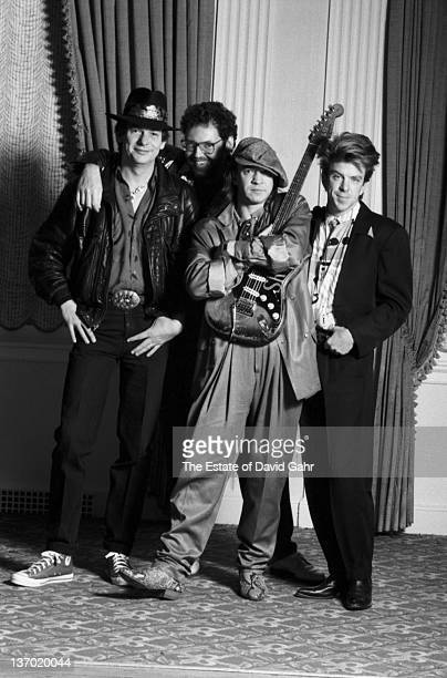 Stevie Ray Vaughan and Double Trouble pose for a portrait in February 1987 in Boston Massachusetts