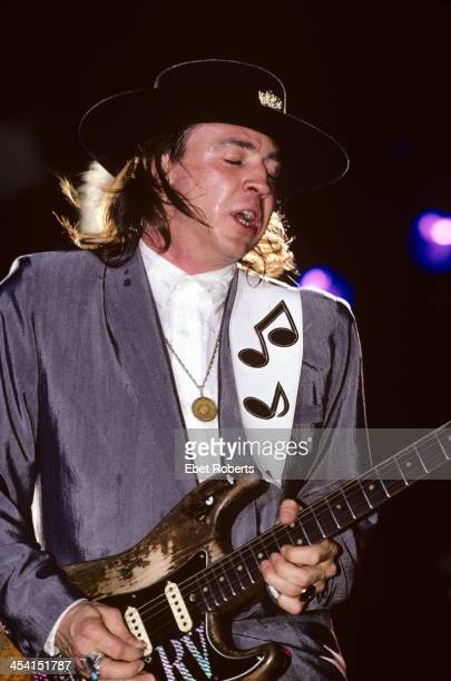 Stevie Ray Vaughan performing at the Pier in New York City on August 15 1987