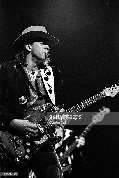 Stevie Ray Vaughan performing at the Warfield Theater in San Francisco on November 24, 1984.