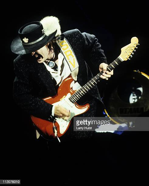 Stevie Ray Vaughan performs at the Community Center in Sacramento California on July 2 1986