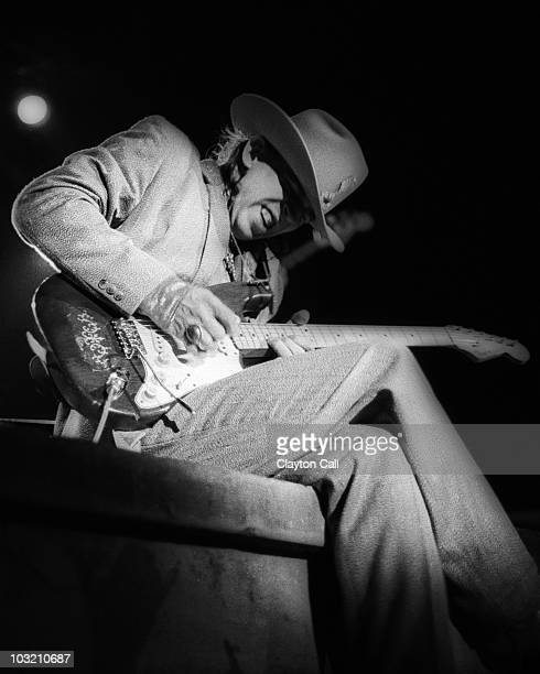 Stevie Ray Vaughan performs at the Greek Theater on October 11, 1985 in Berkeley, California, United States.