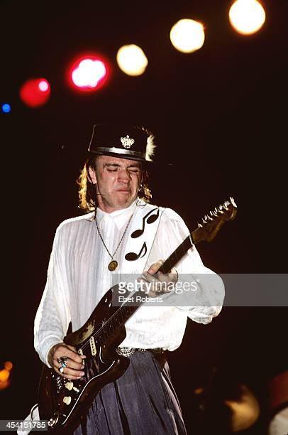 Stevie Ray Vaughan perfroming at the Pier in New York City on August 15 1987
