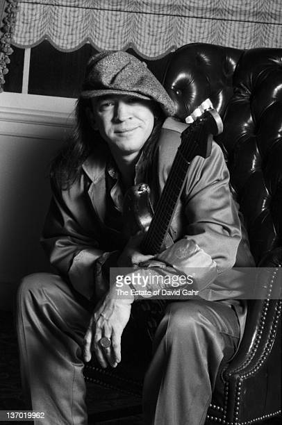 Stevie Ray Vaughan poses for a portrait in February 1987 in Boston Massachusetts