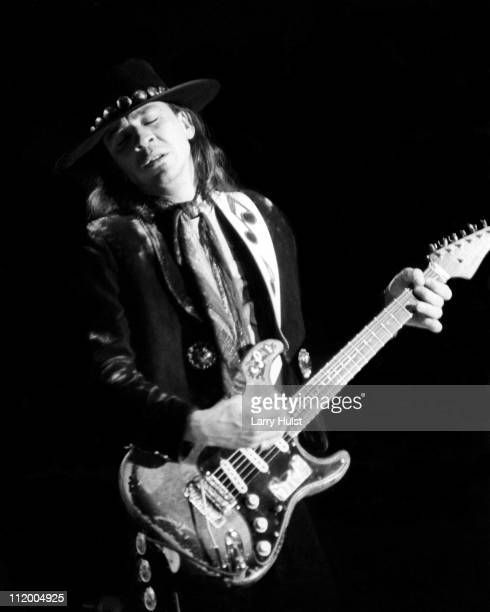 Stevie Ray Vaughn performs at Freeborn Hall in Davis California on December 3 1984