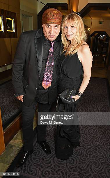 Stevie Van Zandt and Maureen Van Zandt attend an after party following the press night performance of Sinatra At The London Palladium at The Savoy...