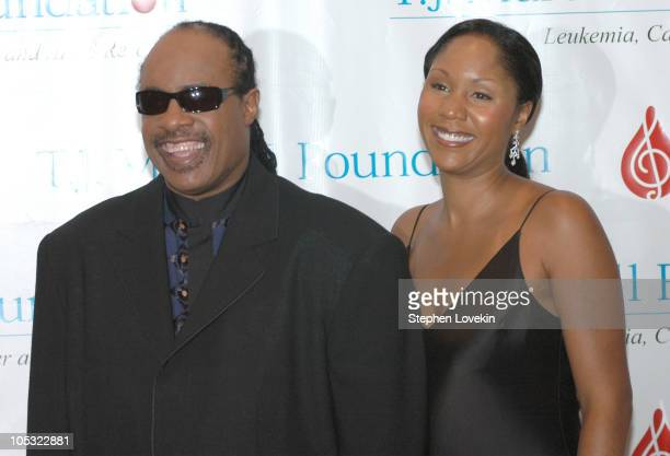 Stevie Wonder and daughter Aisha Morris during 29th Annual TJ Martell Foundation Award Gala at The New York Hilton in New York City New York United...