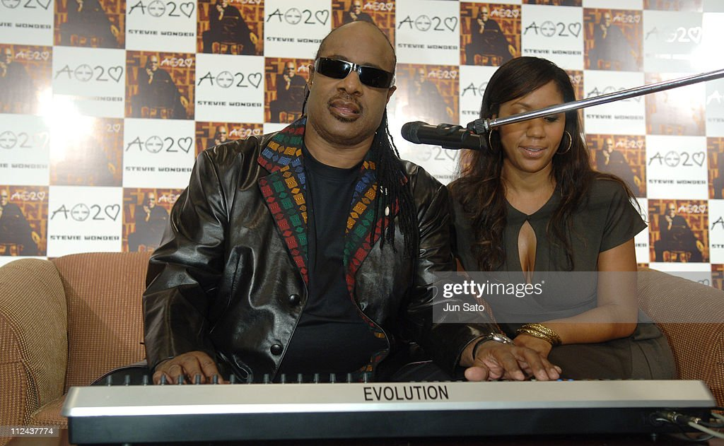 "Stevie Wonder Holds a Press Conference in Tokyo to Promote His New Album ""A"