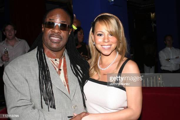 Stevie Wonder and Mariah Carey during Vibe 3rd Annual Quincy Jones Achievement Award Honoring Kedar Massenburg at Supper Club in New York City New...