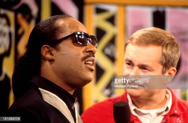 Stevie Wonder and Paul Gambaccini London circa 1985