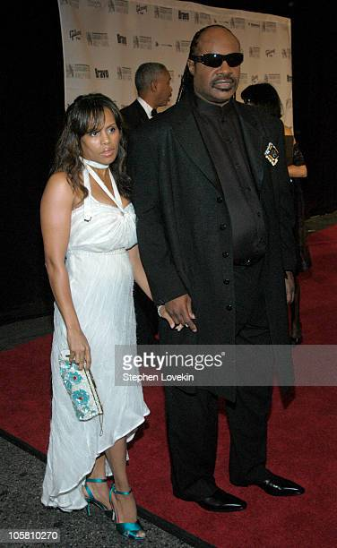 Stevie Wonder and wife Kai Milla during 35th Annnual Songwriters Hall of Fame Awards at The Marriott Marquis in New York City NY United States