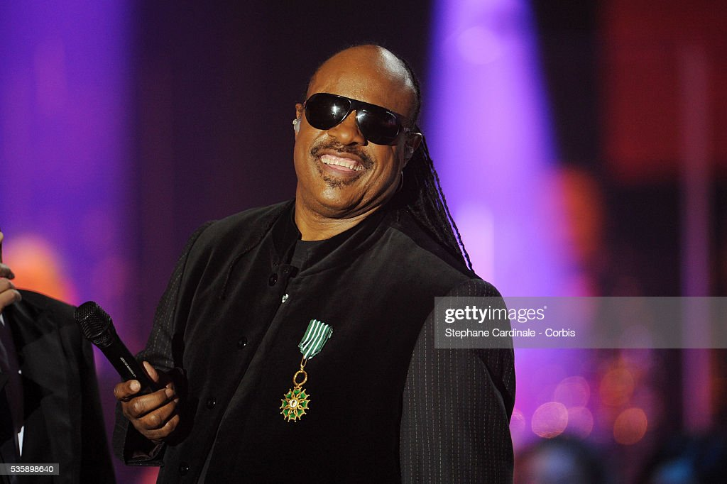 Stevie Wonder at the '25th Victoires de la Musique' ceremony, held at the Zenith in Paris.