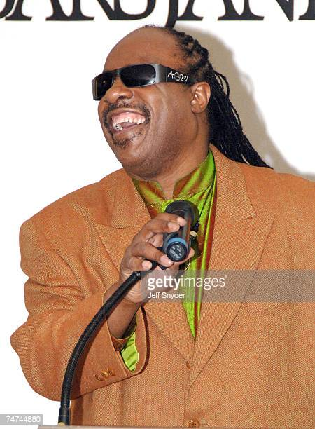 Stevie Wonder at the Saks Jandel in Washington DC