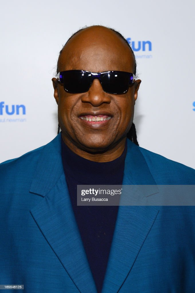 Stevie Wonder attends SeriousFun Children's Network event honoring Liz Robbins with celebrity guests at Pier Sixty at Chelsea Piers on April 4, 2013 in New York City.