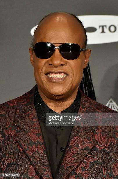 Stevie Wonder attends the 30th Annual Rock And Roll Hall Of Fame Induction Ceremony at Public Hall on April 18 2015 in Cleveland Ohio