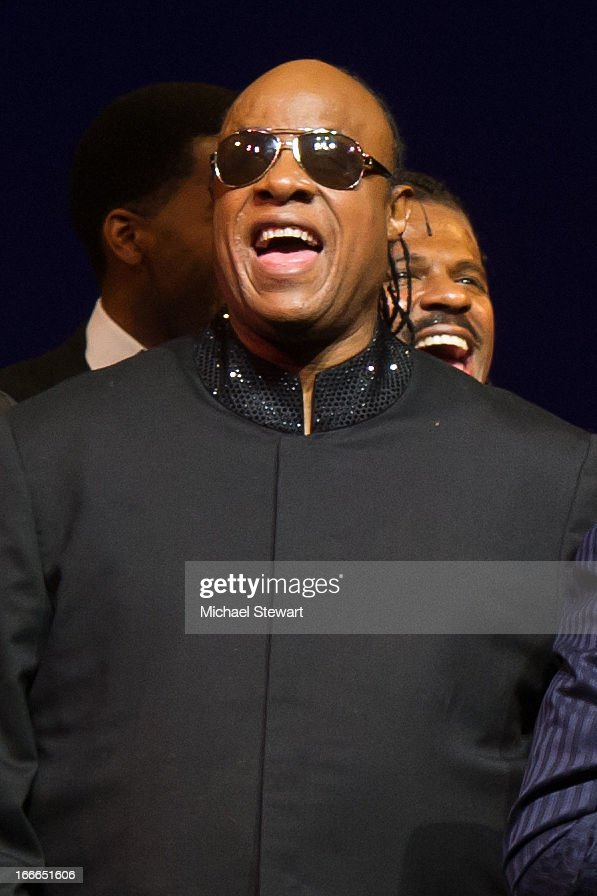Stevie Wonder attends the Broadway opening night for 'Motown: The Musical' at Lunt-Fontanne Theatre on April 14, 2013 in New York City.