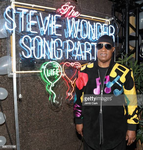 Stevie Wonder attends The Stevie Wonder Song Party at The Peppermint Club on May 9 2018 in Los Angeles California