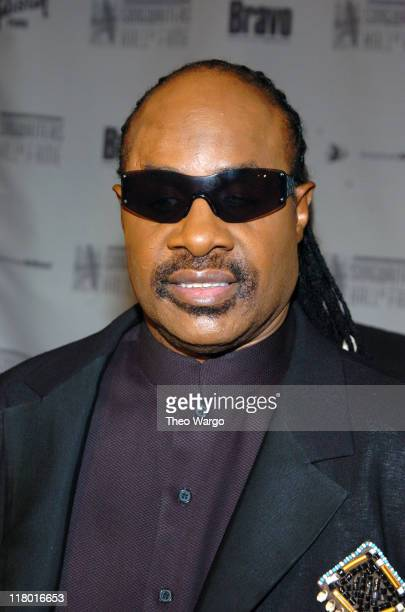 Stevie Wonder during 35th Annual Songwriters Hall of Fame Awards Induction Arrivals at Mariott Marquis Hotel in New York City New York United States