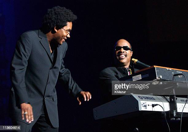 Stevie Wonder during Andre Agassi's 6th Grand Slam for Children Fundraiser Show at MGM Grand Hotel in Las Vegas Nevada