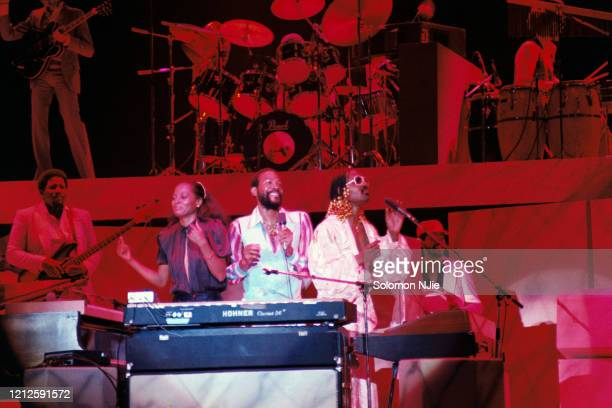Stevie Wonder, Marvin Gaye, Diana Ross, Hotter Than July Music Picnic tour, 6 September 1980 Wembley Arena