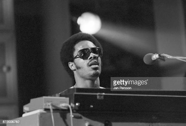 Stevie Wonder performing at MIDEM Cannes France January 1974