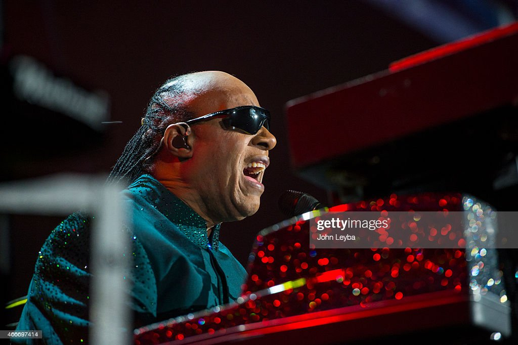 Stevie Wonder performs during his 'Songs in the Key of Life Tour' March 17, 2015 at Pepsi Center. This was the first stop of the tour.