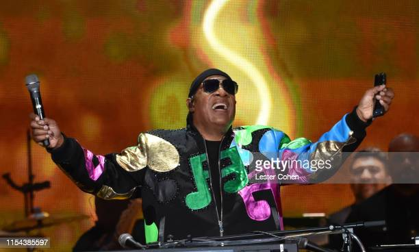 Stevie Wonder performs on Day 2 of Barclaycard Presents British Summer Time Hyde Park at Hyde Park on July 6 2019 in London England