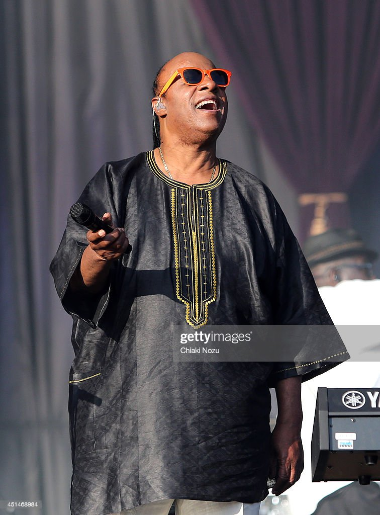 Stevie Wonder performs on Day 2 of the Calling Festival at Clapham Common on June 29, 2014 in London, England.