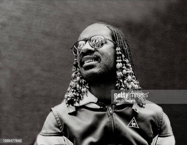 Stevie Wonder, portrait at The Grand Hotel Amsterdam, Netherlands promoting the 'Hotter than July'album.