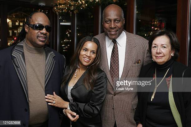 Stevie Wonder with wife Kai Milla fashion designer and Vernon Jordan with wife Ann Jordan