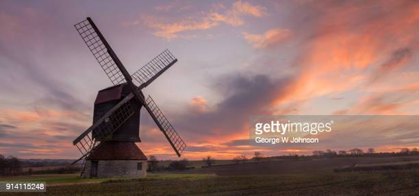 stevington windmill - old windmill stock photos and pictures