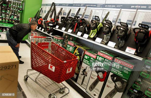Stevo Zrhic shops for Craftsman items in a newly revamped Kmart store April 22 2005 in Norridge Illinois The store is one of nine test stores where...