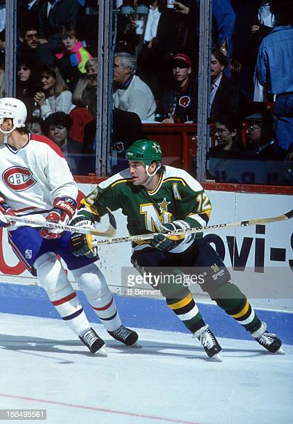 Stew Gavin Of The Minnesota North Stars Skates On Ice During An NHL Game Against