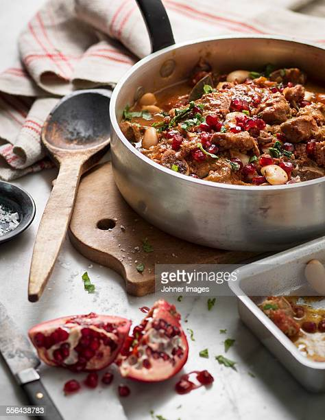 Stew with pomegranate