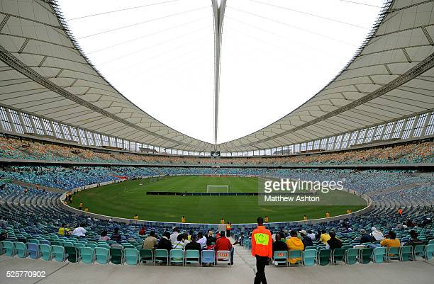 A steward in the Moses Mabhida Stadium in Durban South Africa one of the host stadiums for the 2010 FIFA World Cup The stadium has a planned capacity...