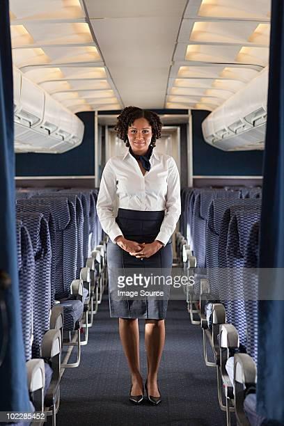 Stewardess に飛行機