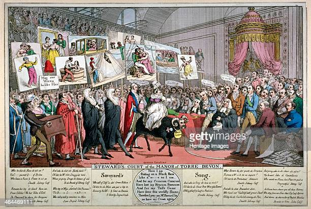 'Steward's Court of the Manor of Torre Devon' 1820 Scene of the House of Lords as arranged for the Bill of Pains and Penalties intended to strip...