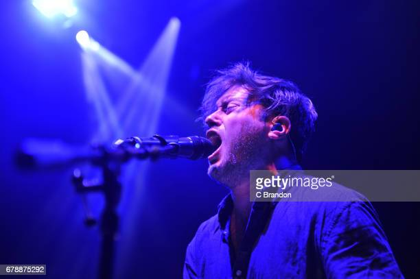 Stewart Brock of Prides performs on stage at the O2 Shepherd's Bush Empire on May 4 2017 in London England