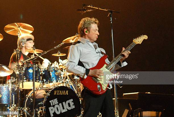 Stewart Copeland and Andy Summers of The Police during The Police Tour Opener Vancouver May 28 2007 at General Motors Place in Vancouver British...