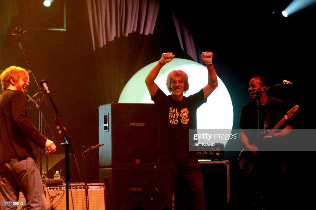 Stewart Copeland and Trey Anastasio during Trey Anastasio Closing Night of Concert Tour at the Wiltern in Los Angeles - December 8, 2005 at Wiltern LG Theater in Los Angeles, California, United States.