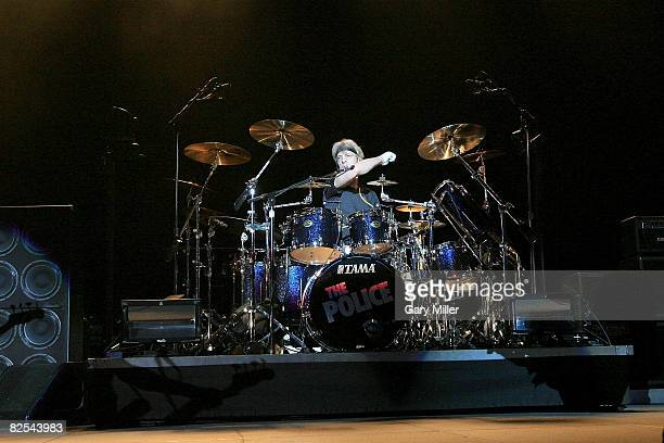 Stewart Copeland of The Police performs at the AT&T Center on November 20, 2007 in San Antonio, Texas