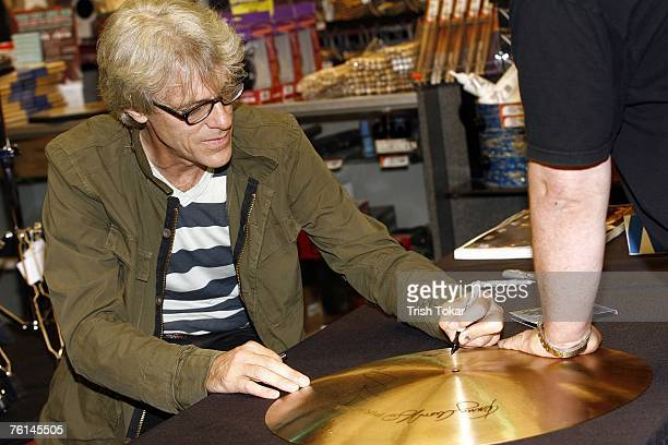 Stewart Copeland visits the Guitar Center to promote his new solo release The Stewart Copeland Anthology on August 16 2007 in Hollywood California