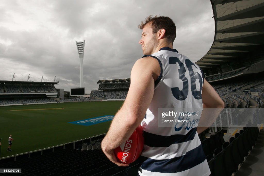 Stewart Crameri pose for a photo during a Geelong Cats Media Session at GMHBA Stadium on December 1, 2017 in Geelong, Australia.