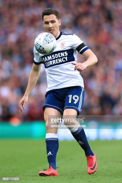 Stewart Downing of Boro in action during the Sky Bet Championship Play Off Semi Final Second Leg match between Aston Villa and Middlesbrough at Villa...