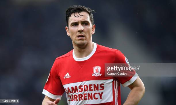 Stewart Downing of Middlesbrough during the Sky Bet Championship match between Derby and Middlesbrough at iPro Stadium on April 21 2018 in Derby...