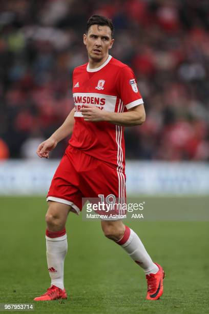 Stewart Downing of Middlesbrough during the Sky Bet Championship Play Off Semi Final First Leg match between Middlesbrough and Aston Villa at...